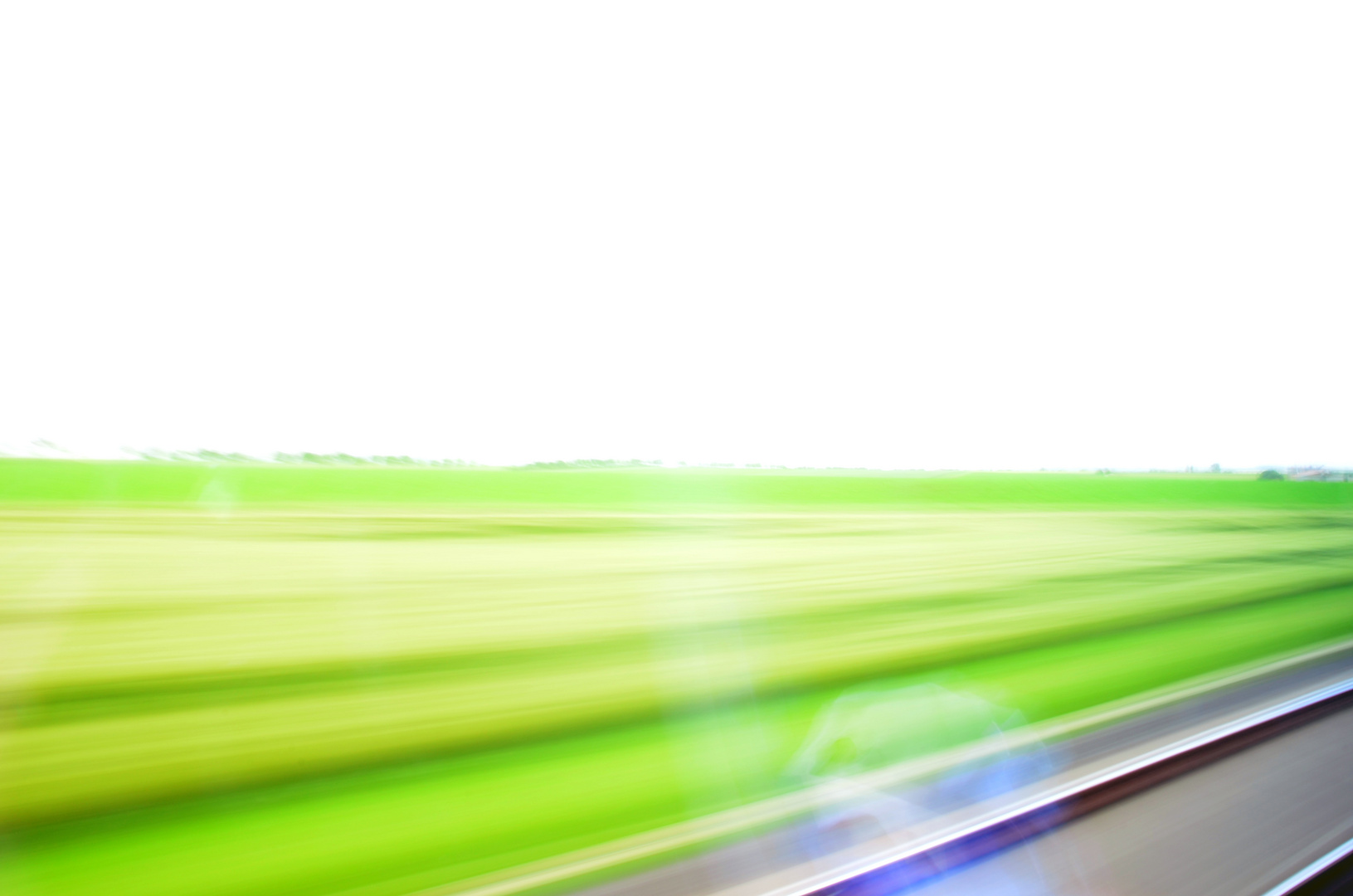 Zugfahrt im Grünen