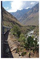 Zugfahrt zum Machu Picchu