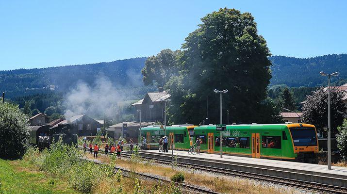 Zugkreuzung in Gotteszell