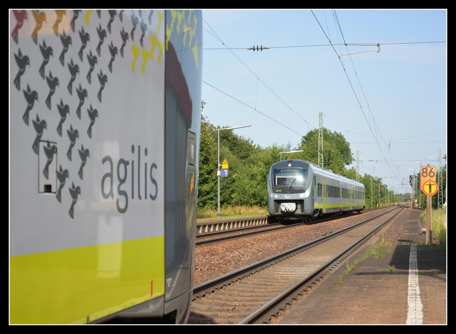 Zugkreuzung in Radldorf