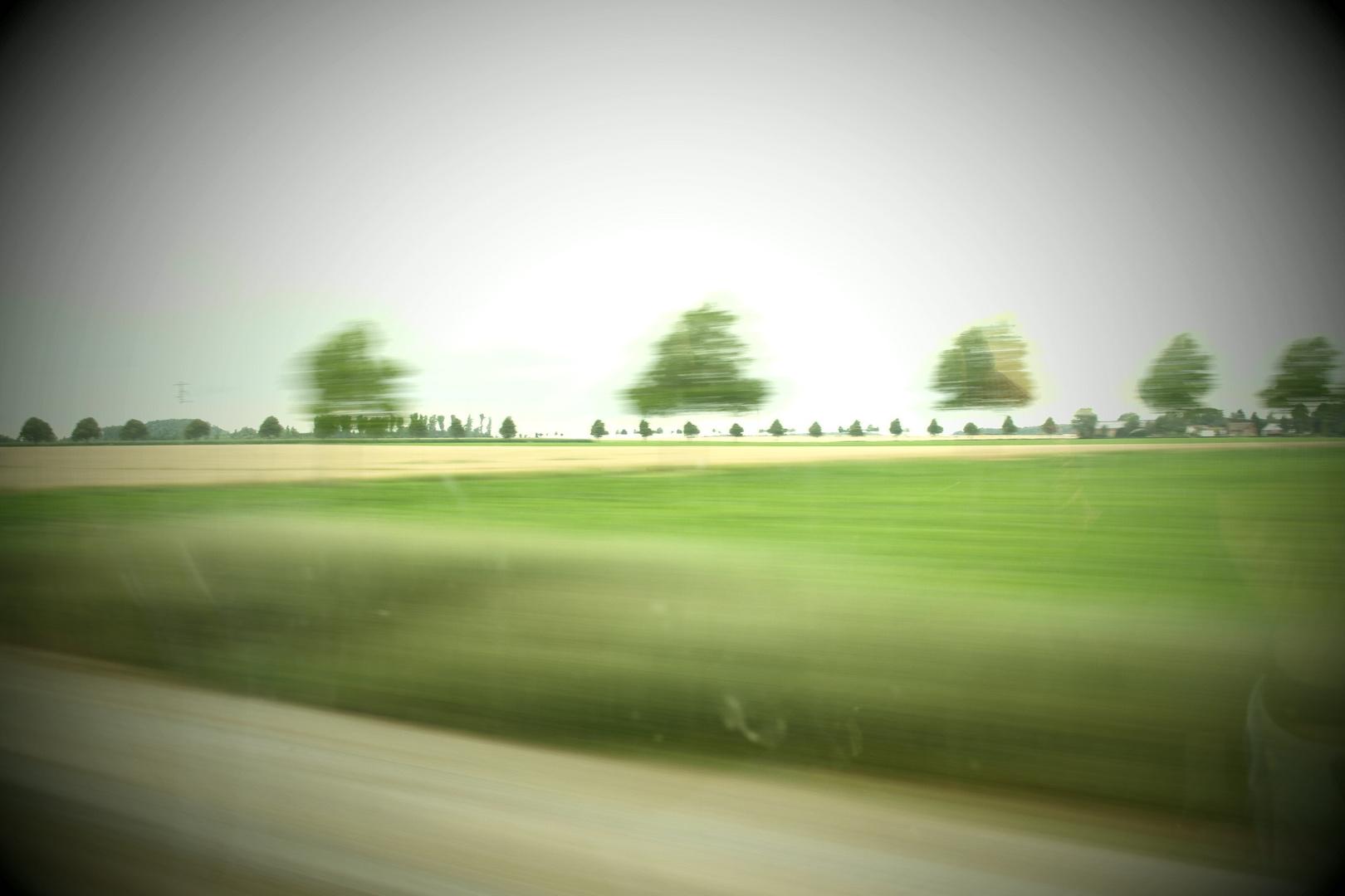 Zugreise mit meiner neuen Kamera erstes gutes Bild