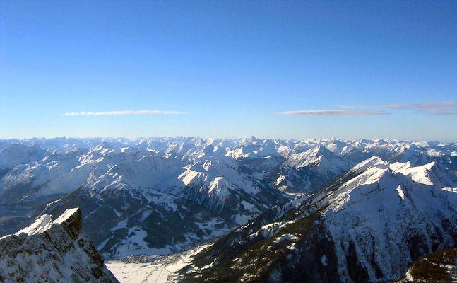 Zugspitze-Blick gegen Westen