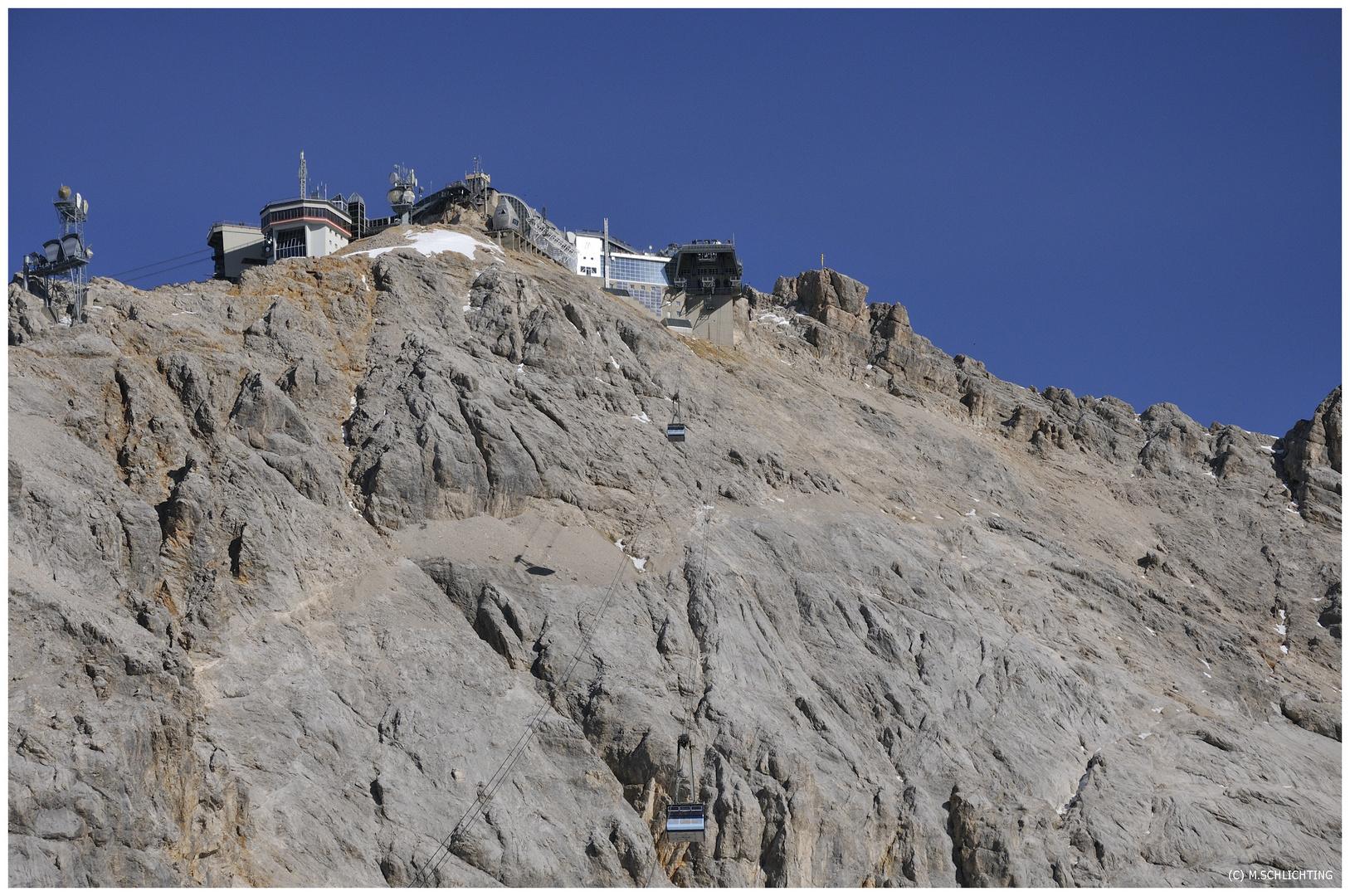 -Zugspitze- Blick richtung Gletscher