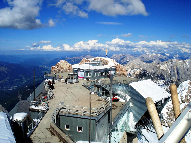 Zugspitze Blick von der Wetterstation