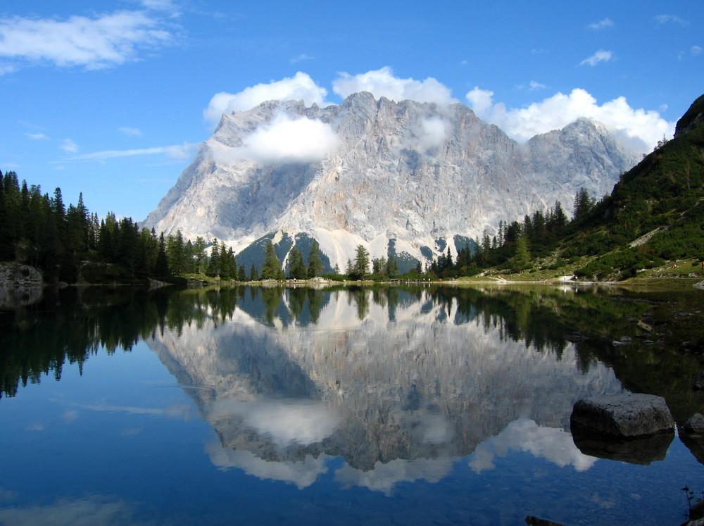 Zugspitze mit Seebensee