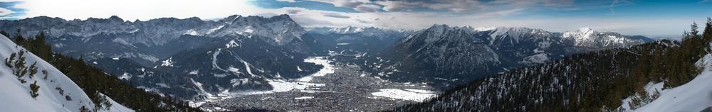 Zugspitze vom Wank aus gesehen