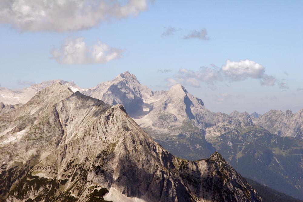 Zugspitzmassiv vom Karwendel aus....