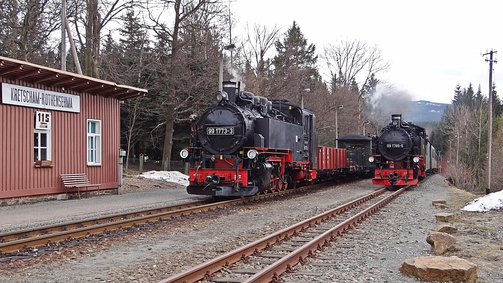 Zugüberholung in Kretscham-Rothensehma