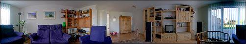 Zuhause - so breit ist unser Wohnzimmer :-) von Dirk Frantzen