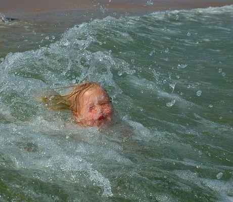 zukünftige rettungsschwimmerin :)