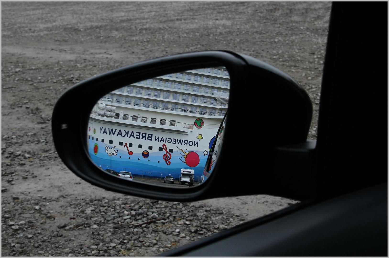 zuletzt sah ich sie im Rückspiegel ... die Norwegian Breakaway