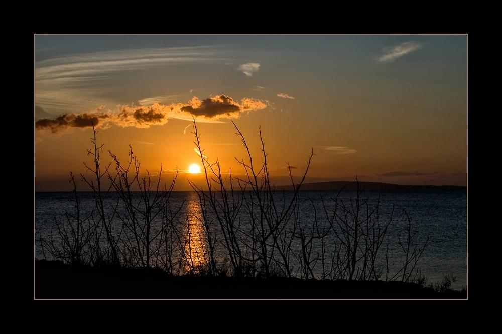 -Zum Abschied noch einen  Sonnenuntergang -