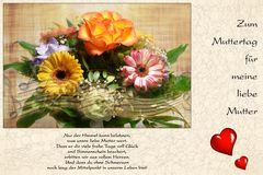 Zum Muttertag für meine liebe Mutter