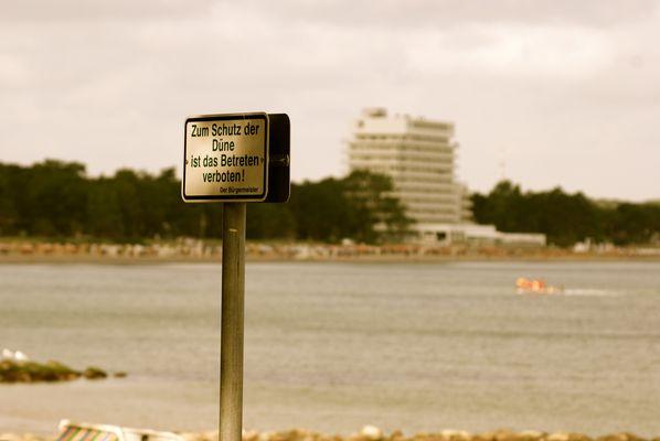 Zum Schutz der Düne,Betreten Verboten?