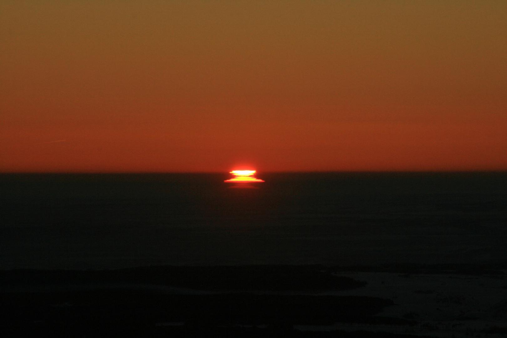 Zum Sonnenaufgang vor 7 Uhr
