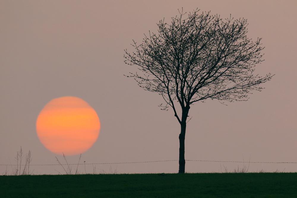 Zur Abwechslung mal ein Sonnenuntergang ...