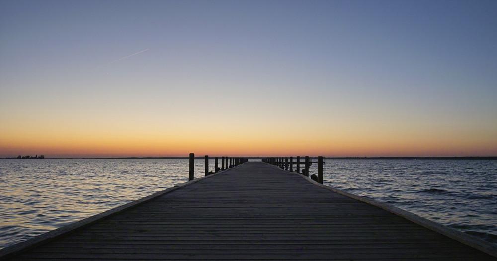 zur blauen Stunde am Steinhuder Meer