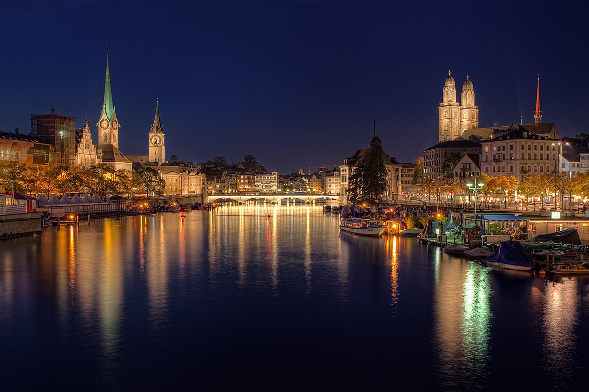 Zur blauen Stunde in Zürich