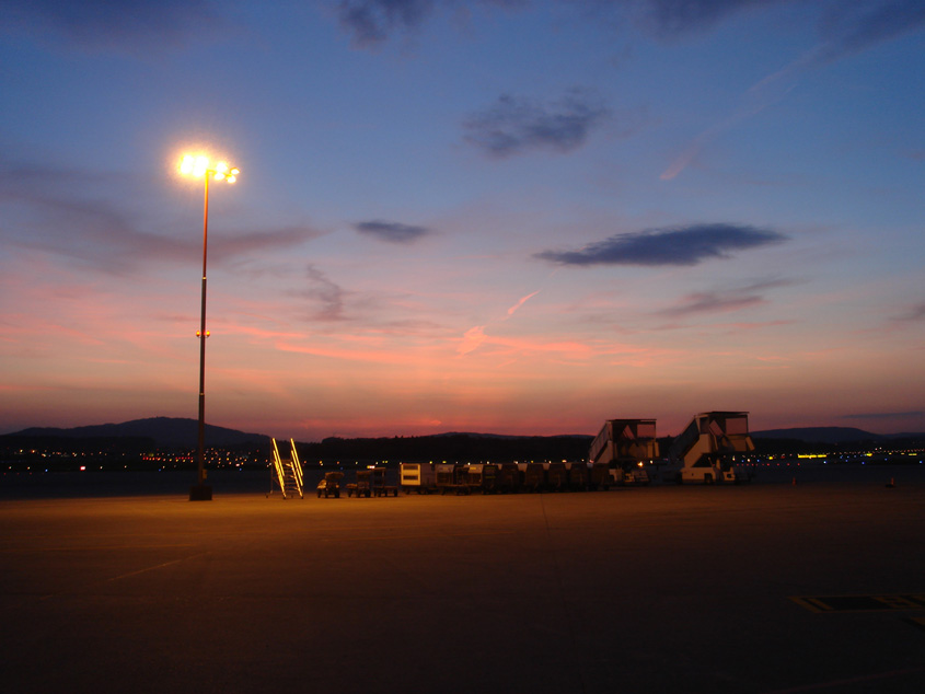 Zurich airport - Evening impression