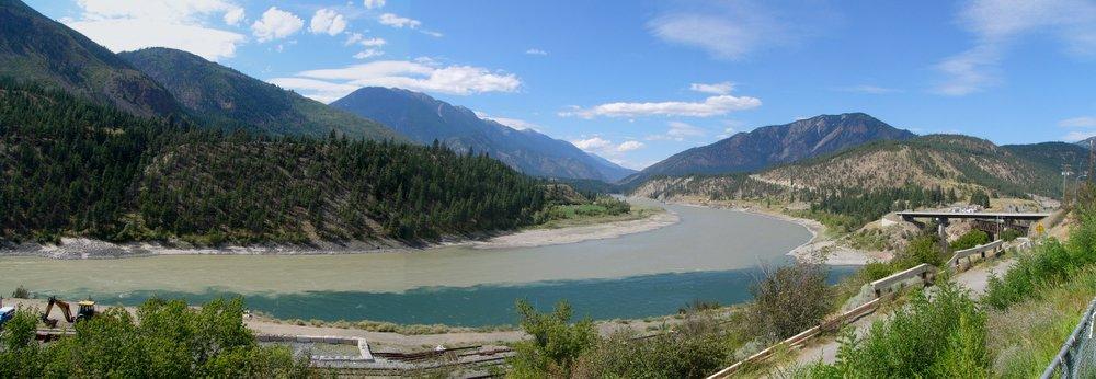 Zusammenfluss Thompson- und Fraser-River