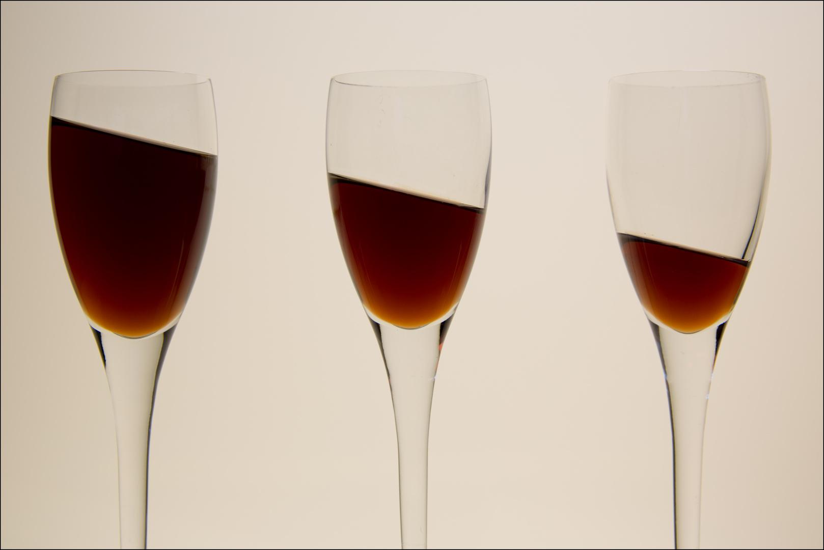 zuviel Wein getrunken????