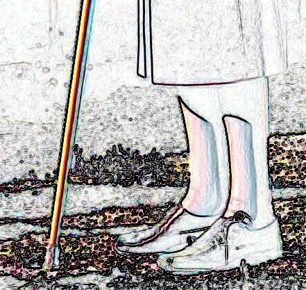 Zwei Beine und ein Stock