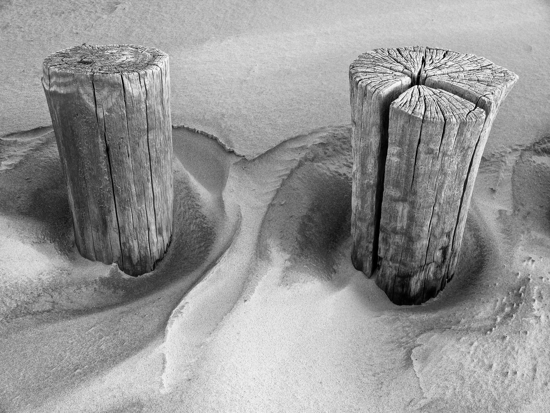 Zwei Bunen und Sandformationen