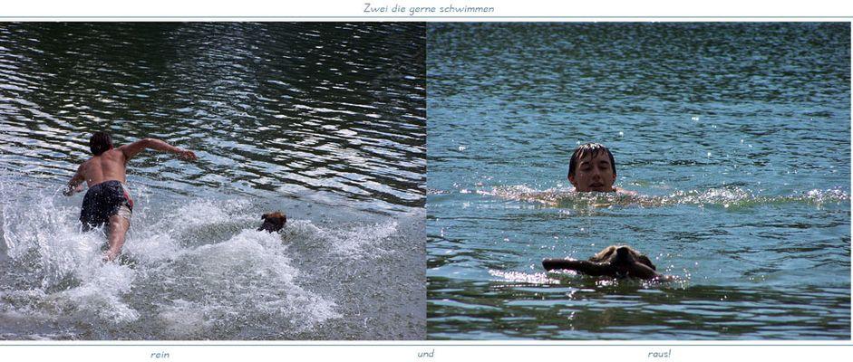 Zwei die gerne schwimmen!