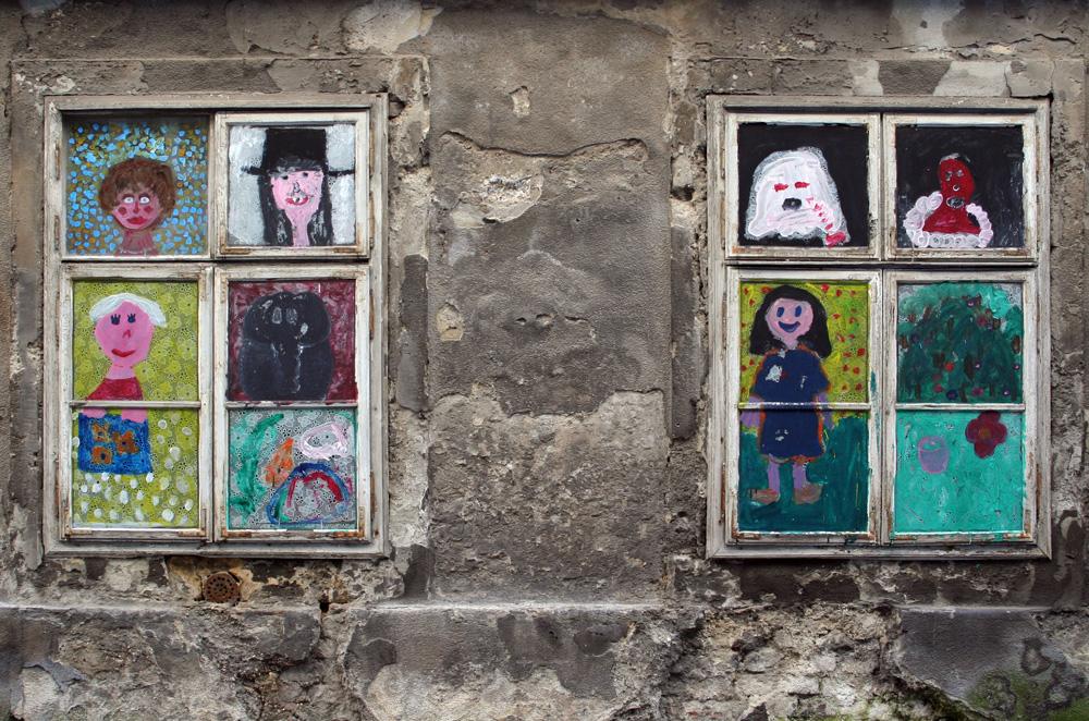 Zwei Fenster in der Freundgasse