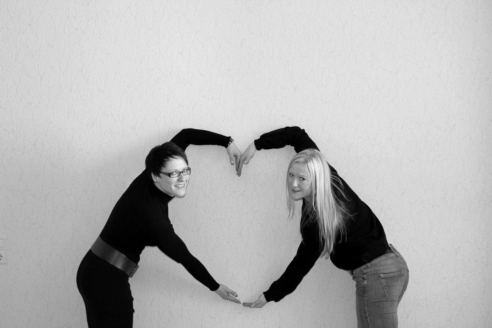 zwei Frauen - ein Herz