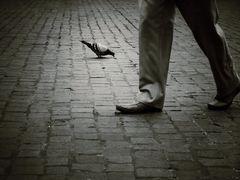 Zwei Fußgänger