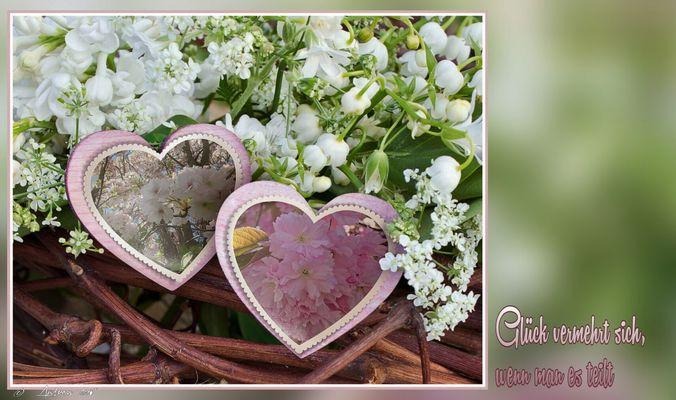 Zwei Herzen im Frühling