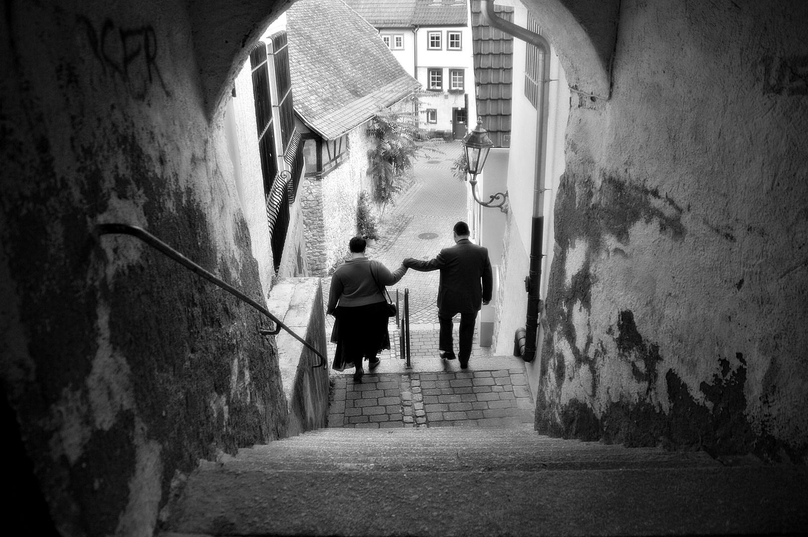 Zwei Herzen mit einem gemeinsamen Weg