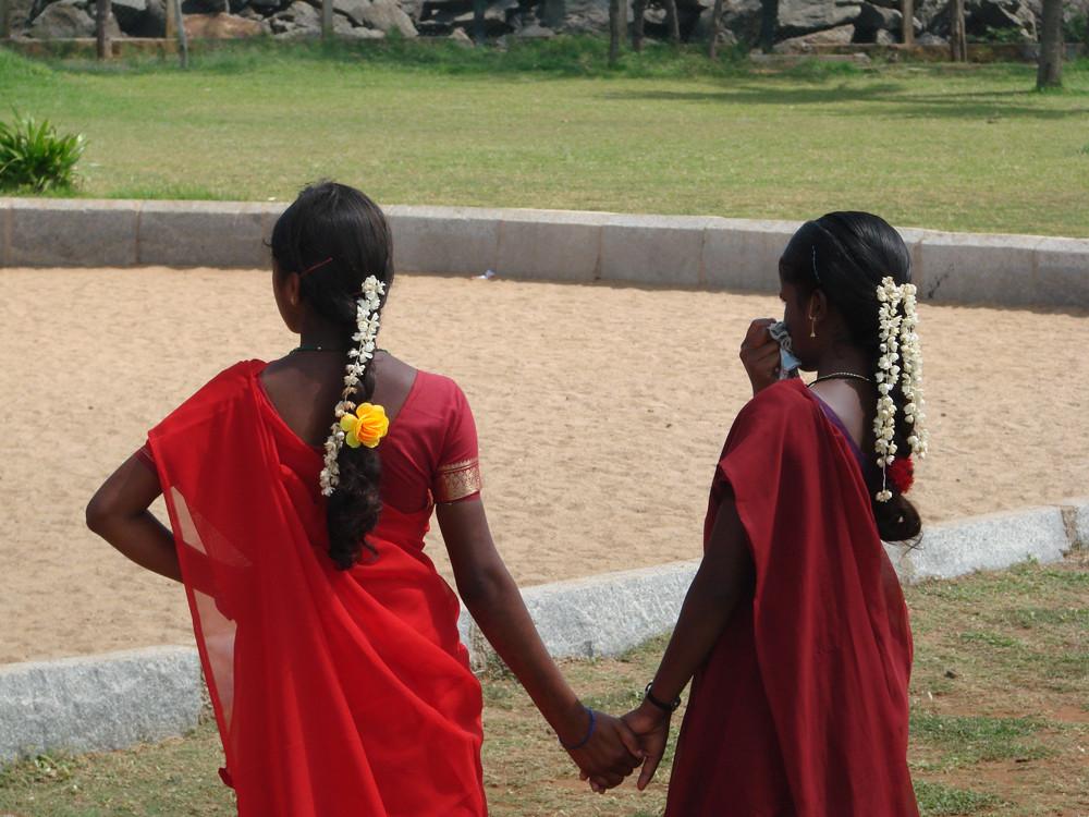 Zwei Mädchen in Tamilnadu