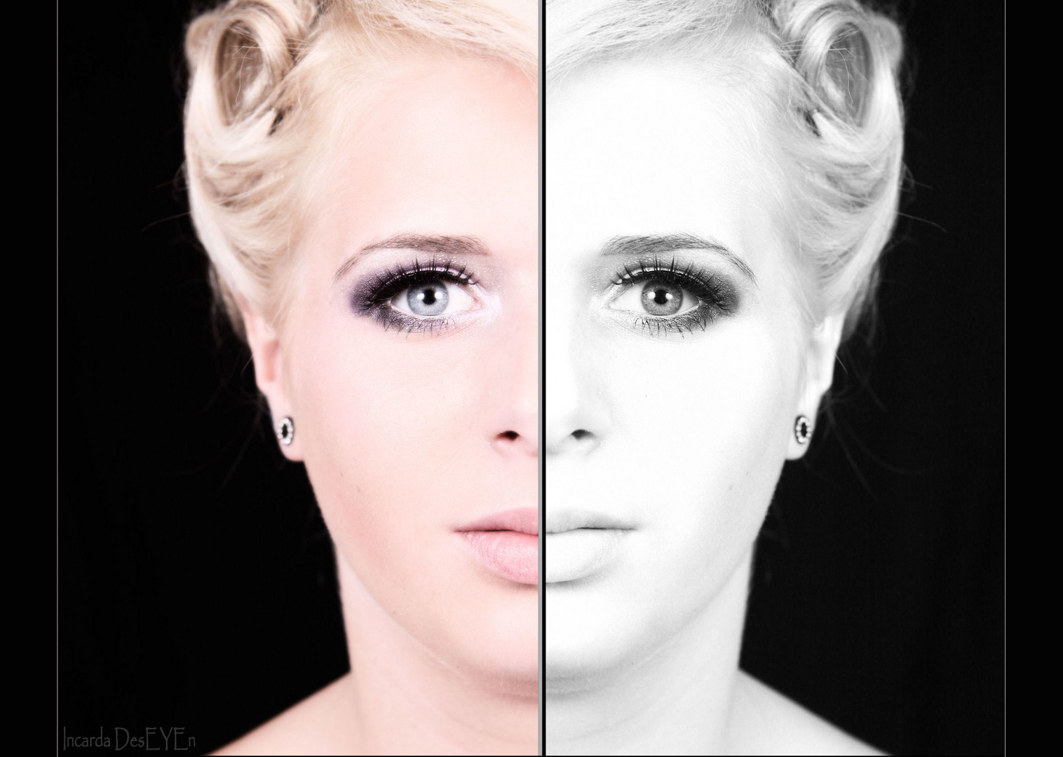 Zwei mal die gleiche Gesichtshälfte