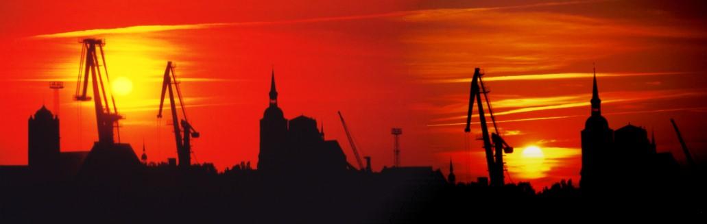 Zwei Sonnen über Stralsund