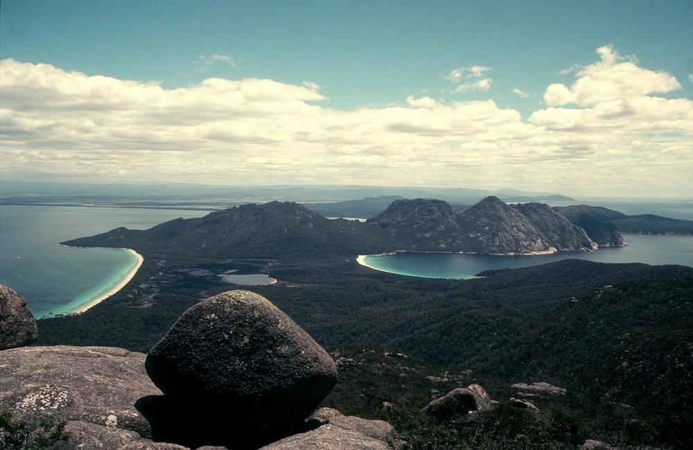 Zwei tasmanische Traumstrände - ein Blick
