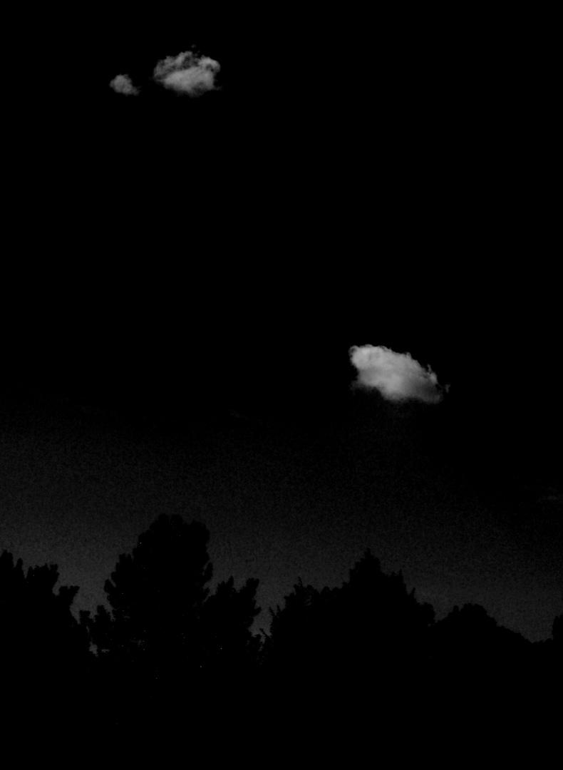 Zwei Wolken