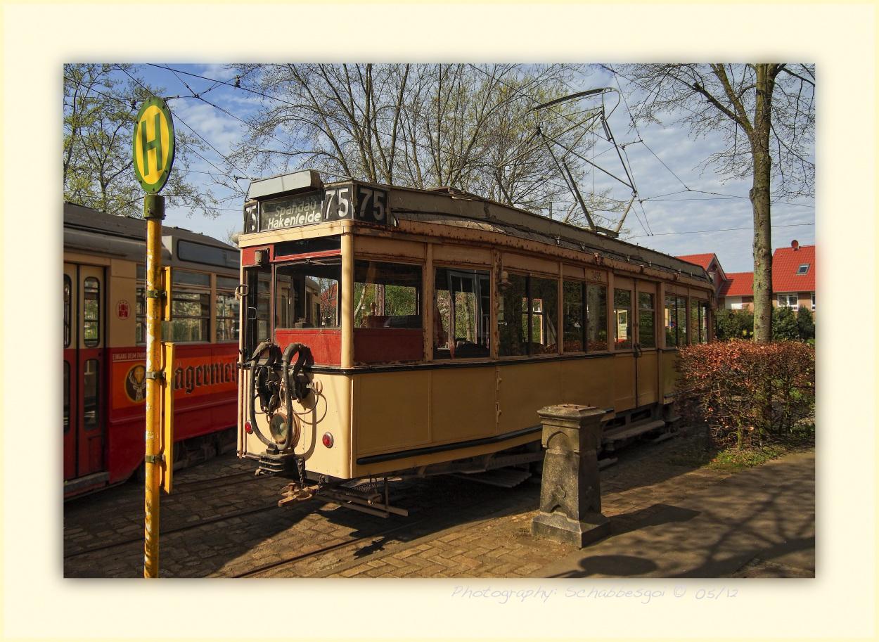 Zweiachsiger Triebwagen Linie 75 der BVG