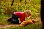 zwiesprache mit Katze