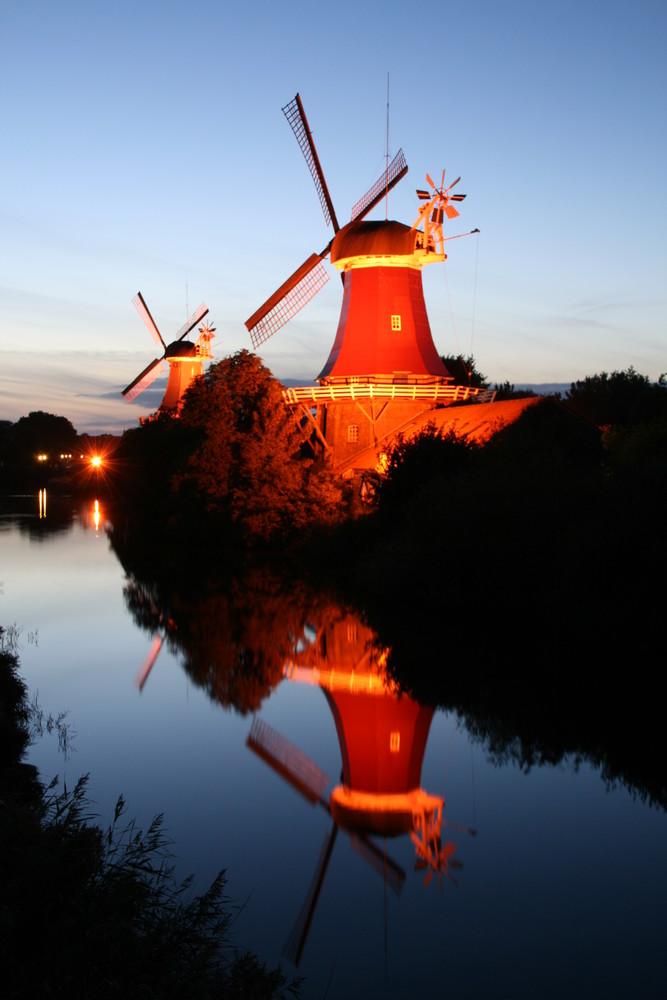 Zwillingsmühlen in Greetsiel
