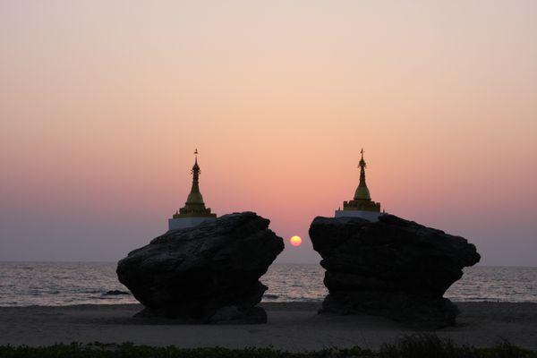 Zwillingspagoden in Birma