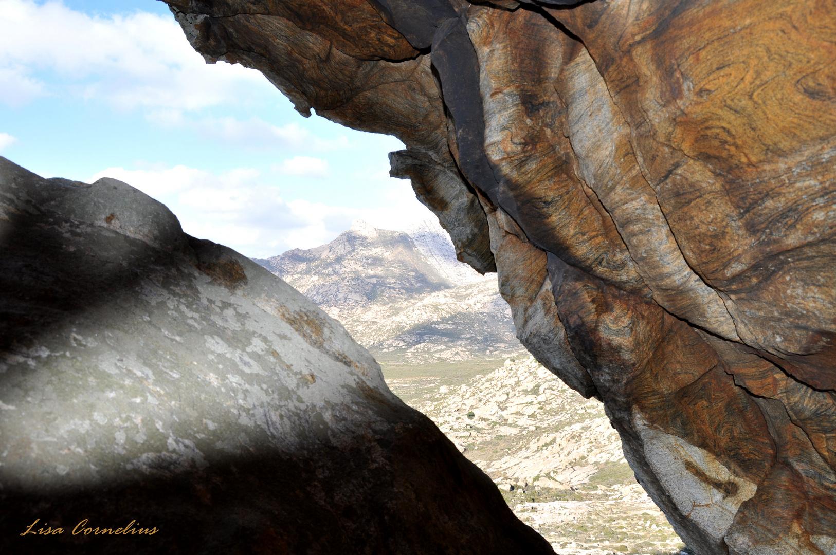 Zwischen den Felsspalten von Naxos