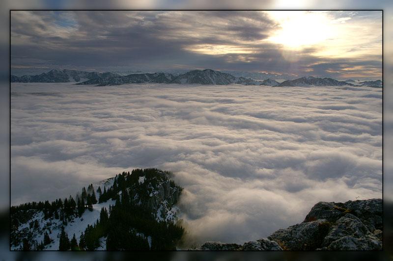 zwischen den Wolken...