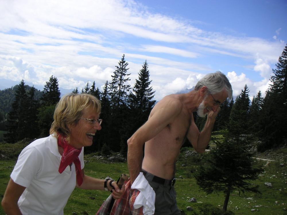 Zwoa Tiroler aufn Berg aufi