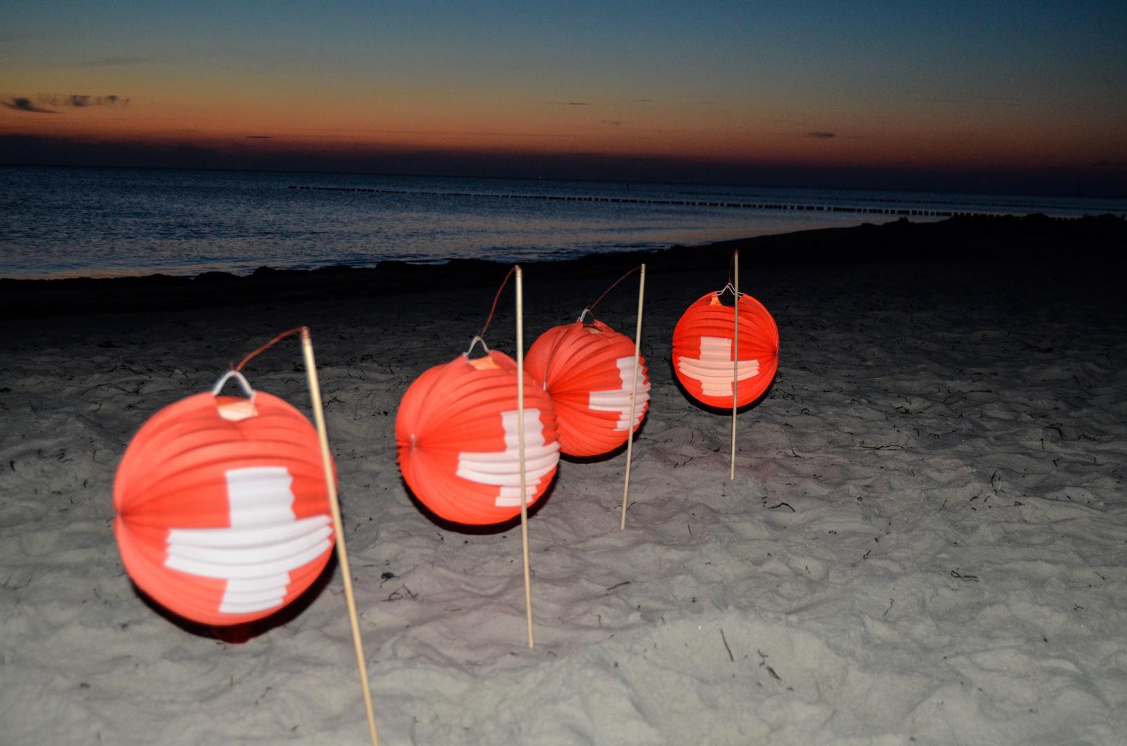 1. August am Strand von Vitte