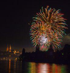 1. August Feuerwerk Basel