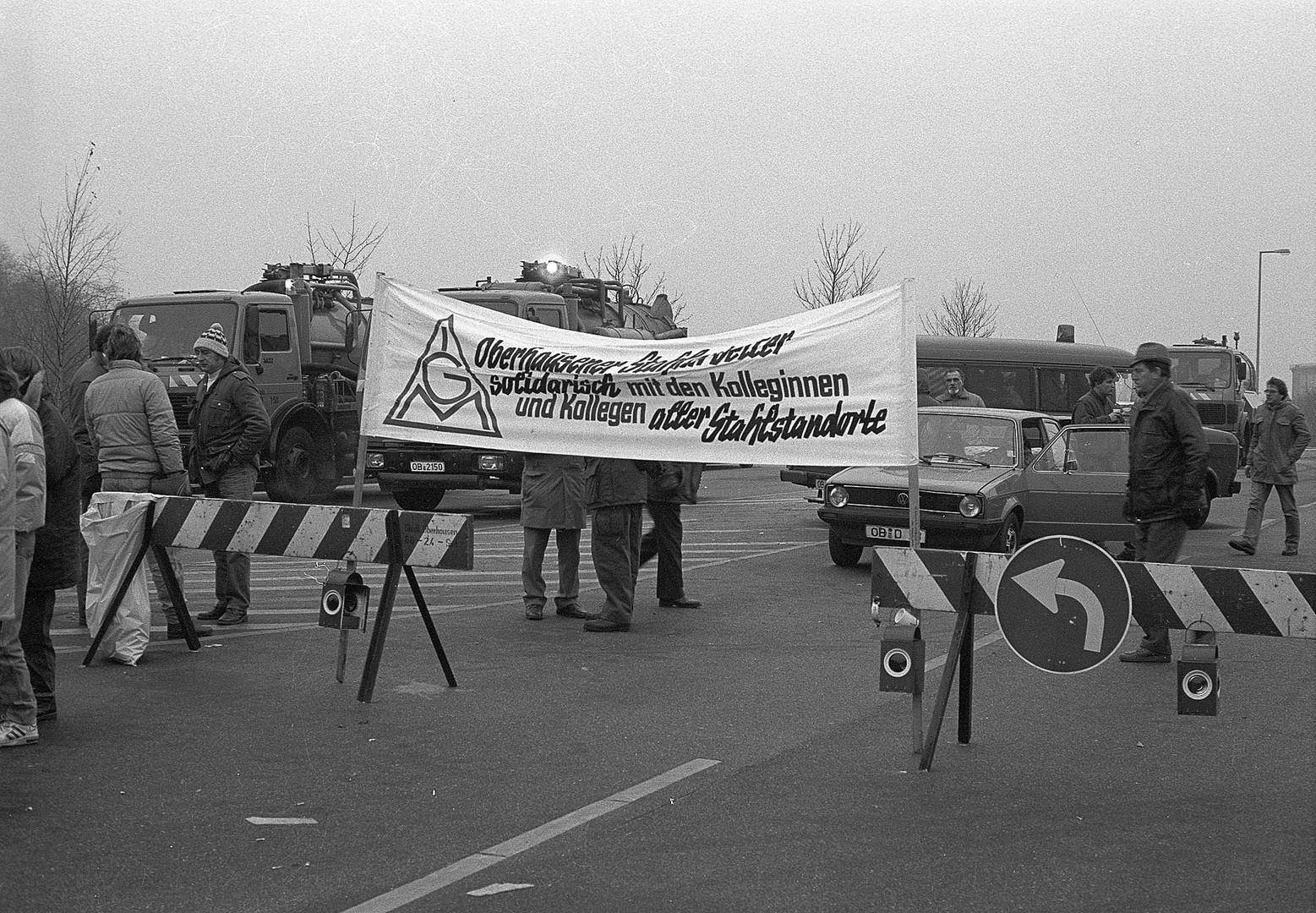 1. Demonstration gegen Schließung von Rheinhausen - 11.1987