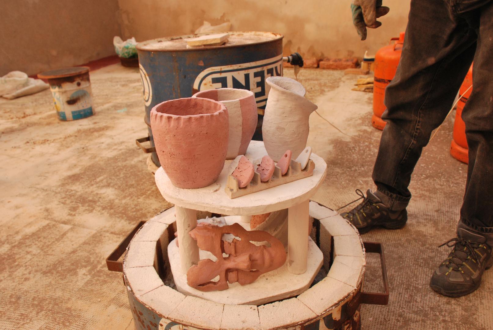 1 Hornear RAKU Ceramica Japonesa