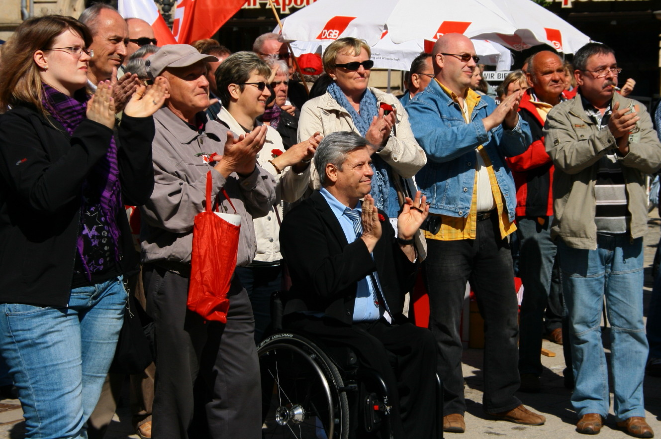 1. Mai 2011 in Zwickau - Applaus